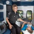 Senior Care in Ambulance — Stock Photo #7336311