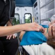 Heart Rate Measure in Ambulance — Stock Photo #7336506