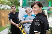 Ambulance Worker Portrait — Stock Photo