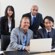 Foto Stock: Portrait of multi ethnic business