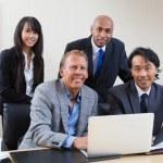 Portrait of multi ethnic business — Stock Photo