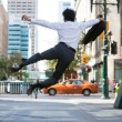 Business Man Jumping in Air — Foto Stock