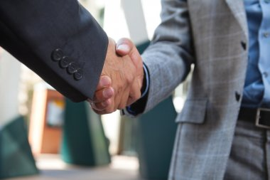 Business shaking hands