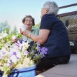 Senior Women Laughing Together — Stock Photo