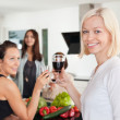 Women toasting - Stock Photo