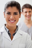 Happy female doctor — Stock Photo