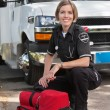 Happy Paramedic Portrait - Stock Photo