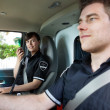 Paramedic Team in Ambulance — Stock Photo #7388386