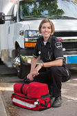 Happy Paramedic Portrait — Stock Photo
