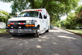 Ambulance in Residential Area — Stock Photo