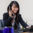 Business Woman Talking on Phone — Stock Photo #7404312