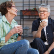 Women having cup of tea — Stock Photo
