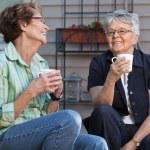 Women having cup of tea — Stock Photo