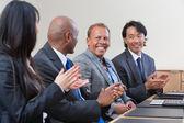 Professionals applauding — Stock Photo