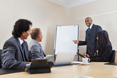 Business team in presentation — Stock Photo