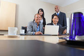Portrait of smiling colleagues — Stock Photo