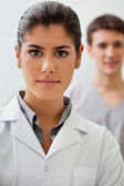 Confident female doctor — Stock Photo
