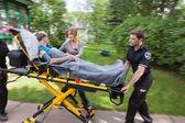 Senior Woman Emergency Transport — Stock Photo
