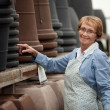 Senior Woman in Garden Center — Stock Photo