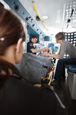 Ambulance Care Senior Woman — Stock Photo