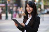 Portrait of businesswoman using tablet pc — Stock Photo