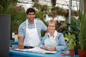 Garden Center Employees — Stock Photo