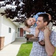 Father With Little Son on His Shoulders — Stock Photo #7677117