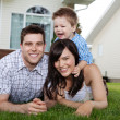 Portrait of Cheerful Family - Stock Photo