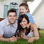 Portrait of Cheerful Family — Stock Photo