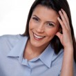 Happy Businesswoman Smiling — Stock Photo