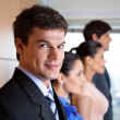 Handsome Male Executive Smiling — Stock Photo