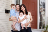 Family Portrait at Home — Stock Photo
