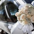 Bouqet and Limo — Stock Photo