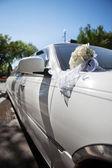 Luxusní svatební auto — Stock fotografie