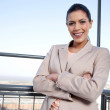 Pretty Young Businesswoman Smiling — Stock Photo