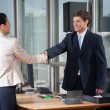 Stock Photo: Business Shaking Hands Over A Deal