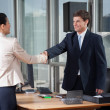 Business Shaking Hands Over A Deal - Zdjęcie stockowe