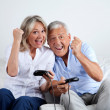 Couple Having Fun Playing Video Game - Stok fotoğraf