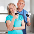 Couple with Wine Glasses — Stock Photo
