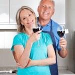 Couple with Wine Glasses — Stock Photo