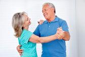 Happy Couple Dancing — Stock Photo