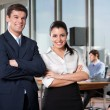 Smart Businesspeople Smiling — Stock Photo