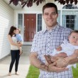 Father and Baby Daughter — Stock Photo