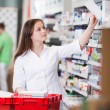 Female at drugstore — Stock Photo