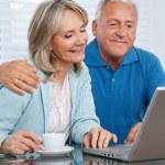 Couple Using Laptop — Stock Photo #7957189