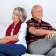 Stubborn Couple on Sofa — Stock Photo #7957929