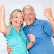 Stock Photo: Portrait of Cheerful Couple