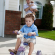 Toddler Riding Bicycle — Stock Photo