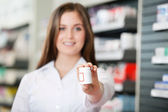 Pharmacist Recommending Medicine — Stock Photo