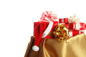 Santa sack with gifts — Stock Photo
